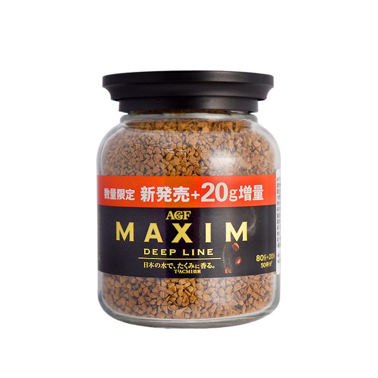 【AGF MAXIM】咖啡罐- 深培煎 80G(加量20g)