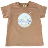 【愛的世界】MYBABY 賽艇系列 純棉圓領短袖T恤/6~12歲-台灣製-