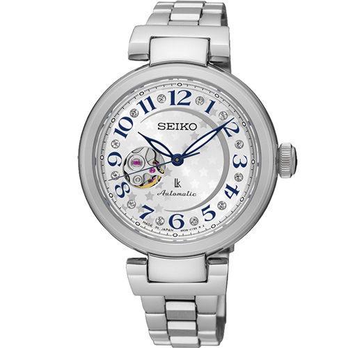 SEIKO 精工 LUKIA 星光記憶 (SSA828J1) 不鏽鋼機械腕錶/34mm/4R38-01L0S