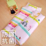 鴻宇HongYew《動物農場-粉》防蹣抗菌 舖棉兩用兒童睡袋