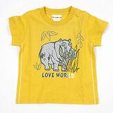 【愛的世界】LOVE WORLD 河馬系列純棉圓領河馬圖案短袖T恤/1~2歲-台灣製-