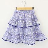 【愛的世界】MYBABY 午茶時光系列鬆緊帶純棉小短裙/8~10歲-台灣製-