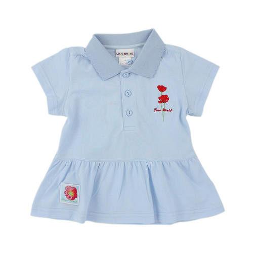 【愛的世界】LOVEWORLD 罌粟花系列純棉短袖POLO衫/2歲-台灣製-