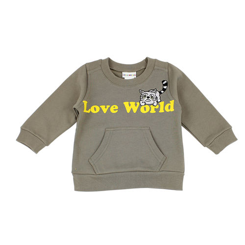 ~愛的世界~LOVEWORLD 小浣熊系列羅紋領長袖上衣 1~4歲~ 製~