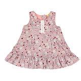 【愛的世界】MYBABY 小兔花園系列磨毛背心拉鍊洋裝/1歲-台灣製-