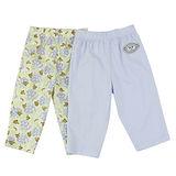 【愛的世界】LOVEWORLD 小猴子系列純棉長褲(藍+印花)/3個月~1歲-台灣製-