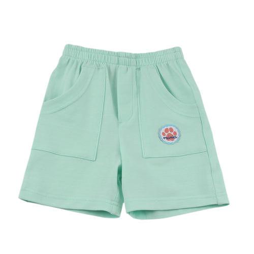 【愛的世界】MYBABY 小狗三兄弟系列鬆緊帶彈性五分褲/6個月~2歲-台灣製-