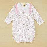 【愛的世界】MYBABY 小蝴蝶系列純棉包袖兩用嬰衣/3個月~6個月-台灣製-