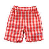 【愛的世界】MYBABY 快樂的朋友系列百搭紅格紋五分褲/2~3歲-中國製-