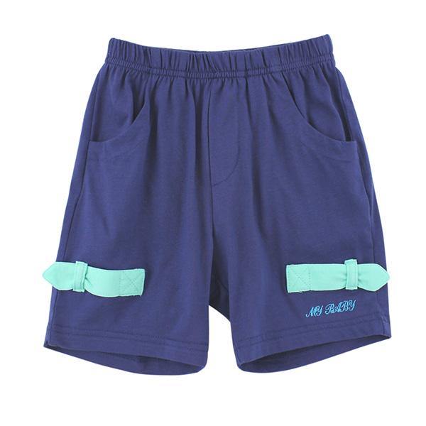 【愛的世界】MYBABY 快樂的朋友系列純棉休閒五分褲/2~4歲-台灣製-