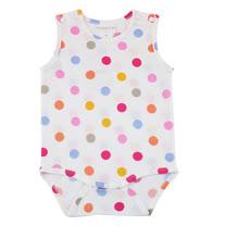 【愛的世界】LOVEWORLD 海邊系列純棉圓點圖樣連身衣/3個月~1歲-台灣製-