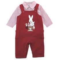 【愛的世界】pappa&ciccia 皮斯卡扥系列吊帶褲套裝/6個月~2歲-台灣製-