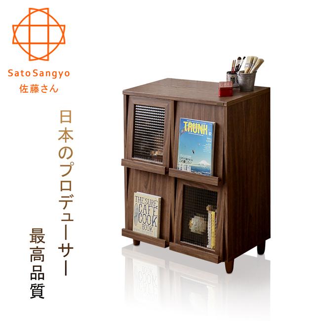 【Sato】NEFLAS時間旅人四門收納書櫃‧幅75cm