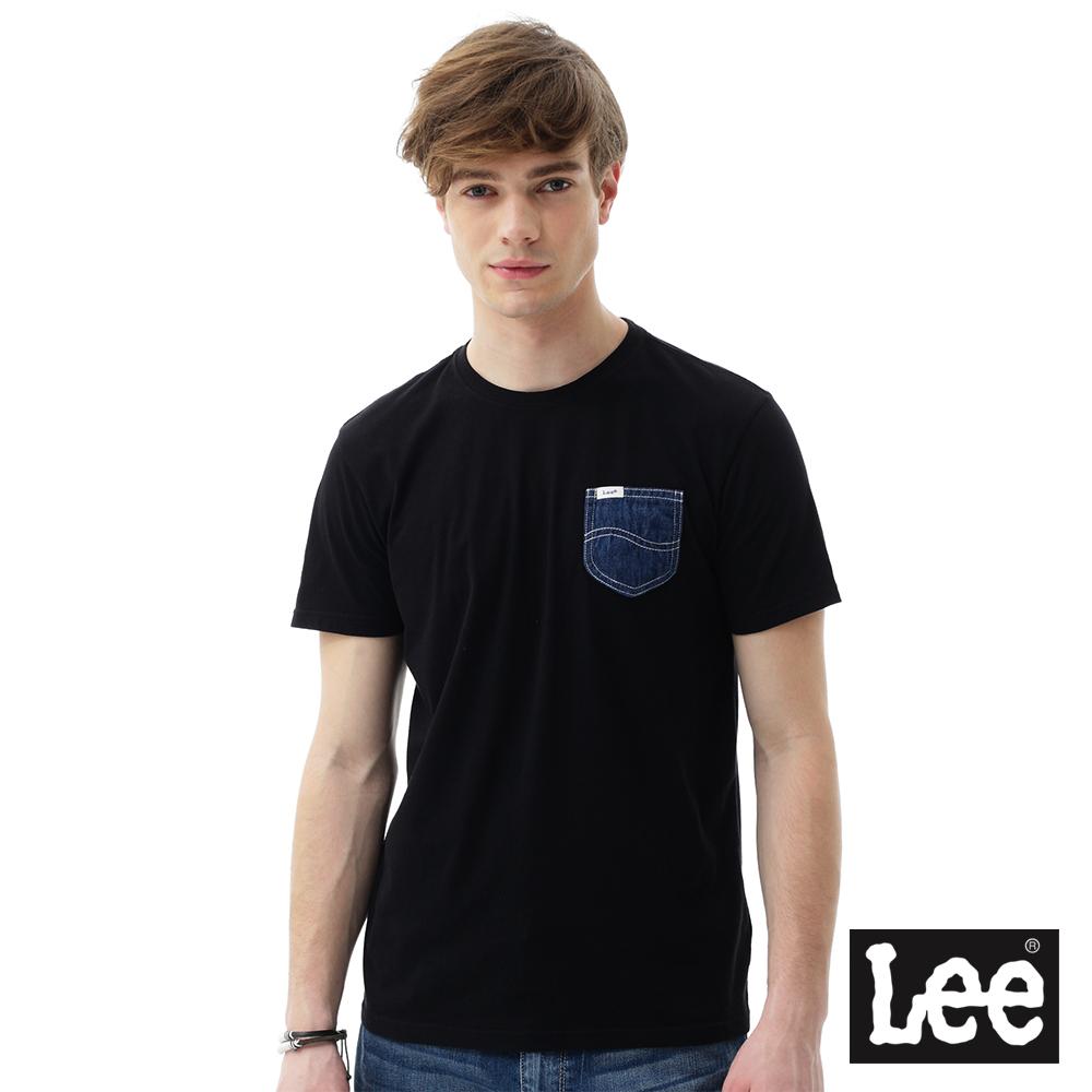 Lee 短袖T恤 牛仔口袋短袖圓領TEE