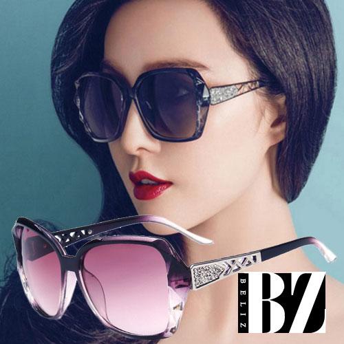 【BeLiz】鑽石菱格*鏤空雕花漸層墨鏡/ 三色可選