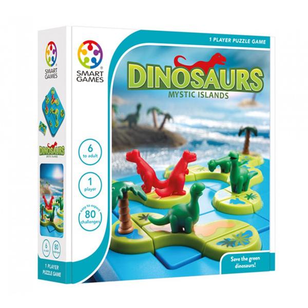 【比利時 SMART GAMES 桌遊】神秘恐龍島 N20576