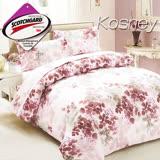 《KOSNEY 香果》 涼感吸濕排汗雙人床包枕套組