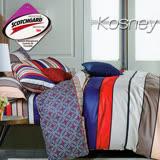 《KOSNEY 加州心情》 涼感吸濕排汗雙人床包枕套組