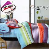 《KOSNEY 自然風》 涼感吸濕排汗單人床包枕套組