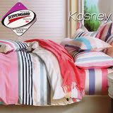 《KOSNEY 星光》 涼感吸濕排汗雙人床包枕套組