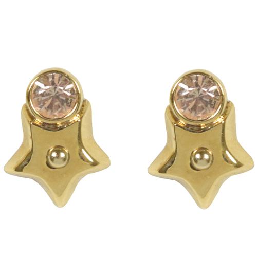 COACH 時尚配件星星鑲鑽耳環.金 F56634