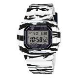 G-SHOCK 街頭玩家 斑馬造型時尚運動腕錶-白X黑/43.2mm/GW-M5610BW-7