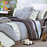 飾家《多瑙河》頂級雙人活性絲柔棉四件式兩用被床罩組台灣製