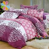 飾家《繽紛花開》頂級雙人活性絲柔棉四件式兩用被床罩組台灣製