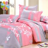 飾家《相思葉》頂級雙人活性絲柔棉四件式兩用被床罩組台灣製