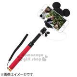 〔小禮堂〕Hemee x 迪士尼 米奇 造型線控自拍棒《黑.紅棒.大耳朵》可延伸至95cm