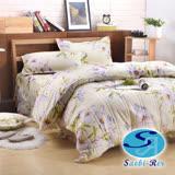 Saebi-Rer-花曜漫舞 台製高級活性柔絲絨加大六件式床罩組