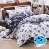 Saebi-Rer-雪花物語 台製高級活性柔絲絨加大六件式床罩組