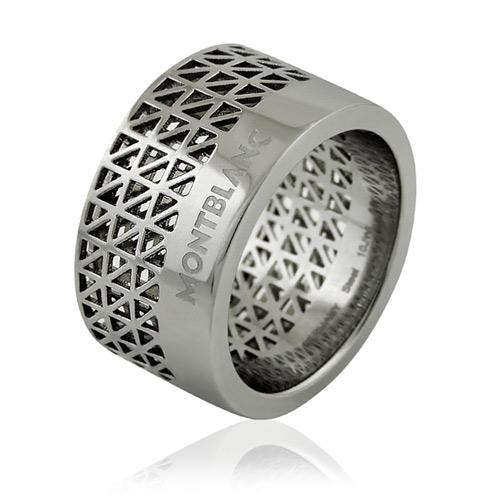 MONT BLANC 萬寶龍 鏤空三角形圖樣寬版戒指【58/60號】
