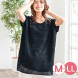 日本ANNA LUNA 預購-寬鬆感蕾絲拼接長版上衣(共四色/M-LL)