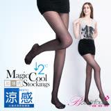 【BeautyFocus】台灣製冰涼感透明絲褲襪-6201黑色