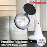 【Hamlet 哈姆雷特】2.3x/5D/100mm 書桌型LED護眼檯燈放大鏡【E062-2】
