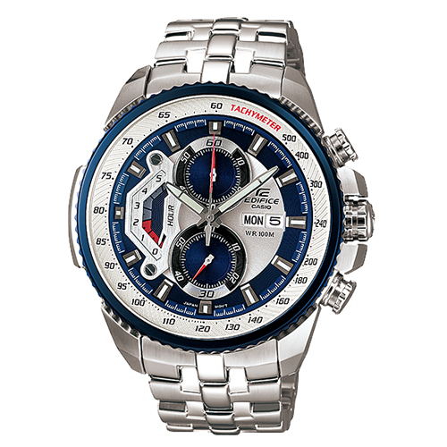 CASIO 卡西歐 EDIFICE 極速賽車錶款 粗獷不羈不鏽鋼男錶 EF-558D-2A
