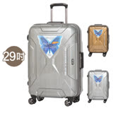 【EMINENT雅士】29吋髮絲紋 鋼強外型 鋁框箱 行李箱 旅行箱(任選一枚9F7)