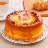 【樂活e棧】生日蛋糕造型蛋糕-岩燒起司蜂蜜蛋糕(6吋/顆,共1顆)