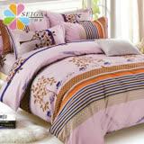 飾家《清雅小調》頂級雙人活性絲柔棉四件式兩用被床罩組台灣製
