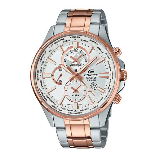 CASIO 卡西歐 EDIFICE 優雅紳士錶款不鏽鋼玫瑰金男錶 EFR-304SG-7A