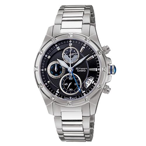 CASIO 卡西歐 SHEEN 藍寶石鏡面 典雅設計精緻女錶 SHN-5506D-1A