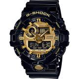 CASIO 卡西歐 G-SHOCK 人氣經典黑金雙顯手錶 GA-710GB-1ADR