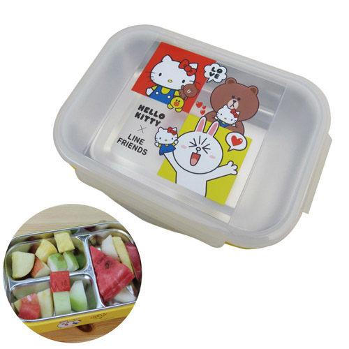 KT加Line 304不鏽鋼隔熱餐盒~三格 KLS~8112B
