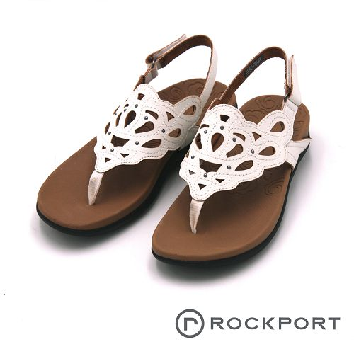 Rockport 夾腳簍空平底涼鞋 女鞋-白