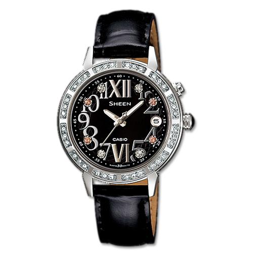 CASIO 卡西歐 SHEEN 耀眼時尚萊茵石淑女腕錶 SHE-4031L-1A