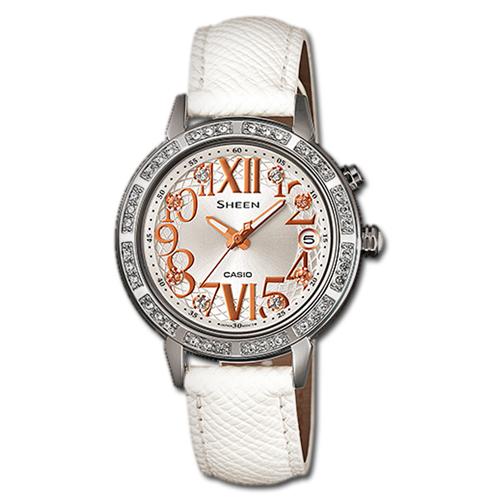 CASIO 卡西歐 SHEEN 耀眼時尚萊茵石淑女腕錶 SHE-4031L-7A