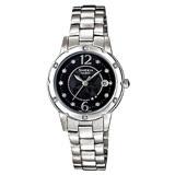 CASIO 卡西歐 SHEEN 水晶裝飾細緻溫柔女錶 SHE-4021D-1ADF