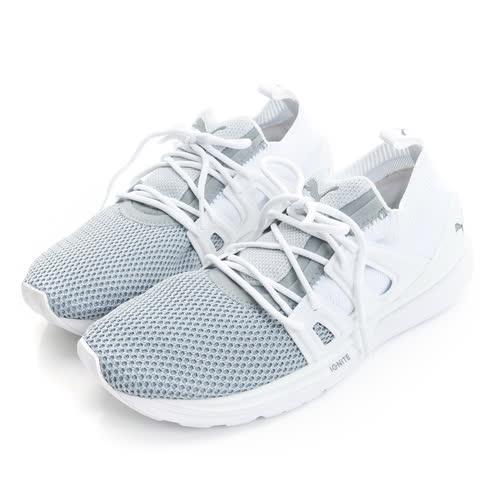 PUMA 女鞋 慢跑鞋 灰白 B.O.G LIMITLESS LO EVOKNIT - 36366802
