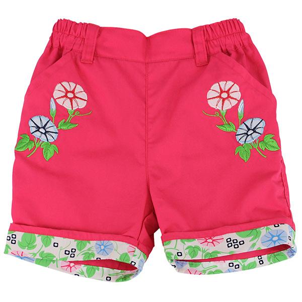 【愛的世界】LOVEWORLD 牽牛花系列 純棉鬆緊帶五分褲/2~3歲-台灣製-